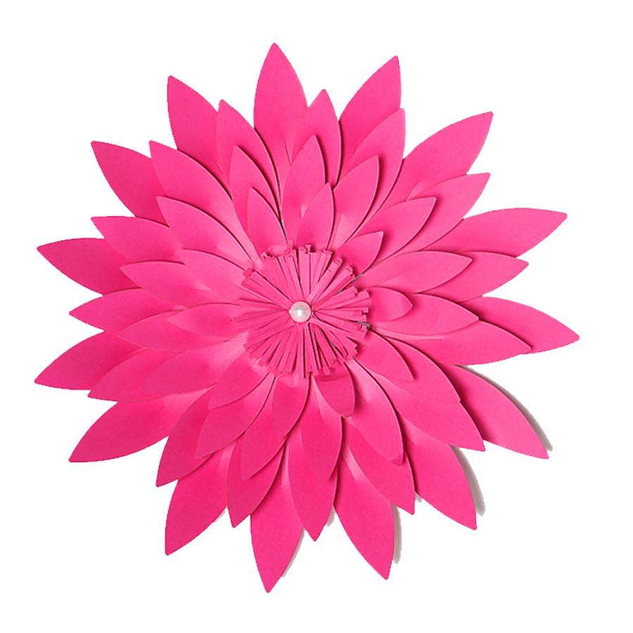 Pf 15cm Artificial Flower Multicolor 3d Paper Flowers Handmade Diy