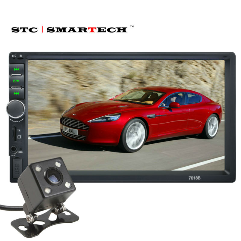 Car MP4 MP5 Player, Car stereo Radio Head Unit With 7 inch TFT Screen Bluetooth Hands-free Rear View Camera Micro SD USB AUX-IN rs 1010bt car bluetooth hands free stereo mp3 player