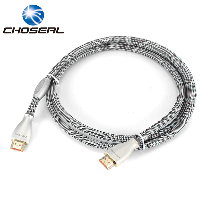 Choseal HDMI Cable 2.0 HDMI To HDMI Braided Gold Plate HDMI Ultra HD Cable 3D 4K*2K For PS4/TV/Projector/Computer