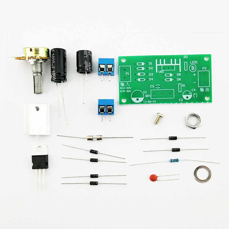 LM317 DC แรงดันไฟฟ้า regulator แหล่งจ่ายไฟอิเล็กทรอนิกส์ชุด DIY ไม่ประกอบ