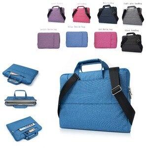 Image 1 - Laptop Bag Case For Apple Macbook Air,Pro,Retina,11,12,13,15 inch laptop Bag. New Air 13.3 inch  Pro 13.3 handbag Denim bag
