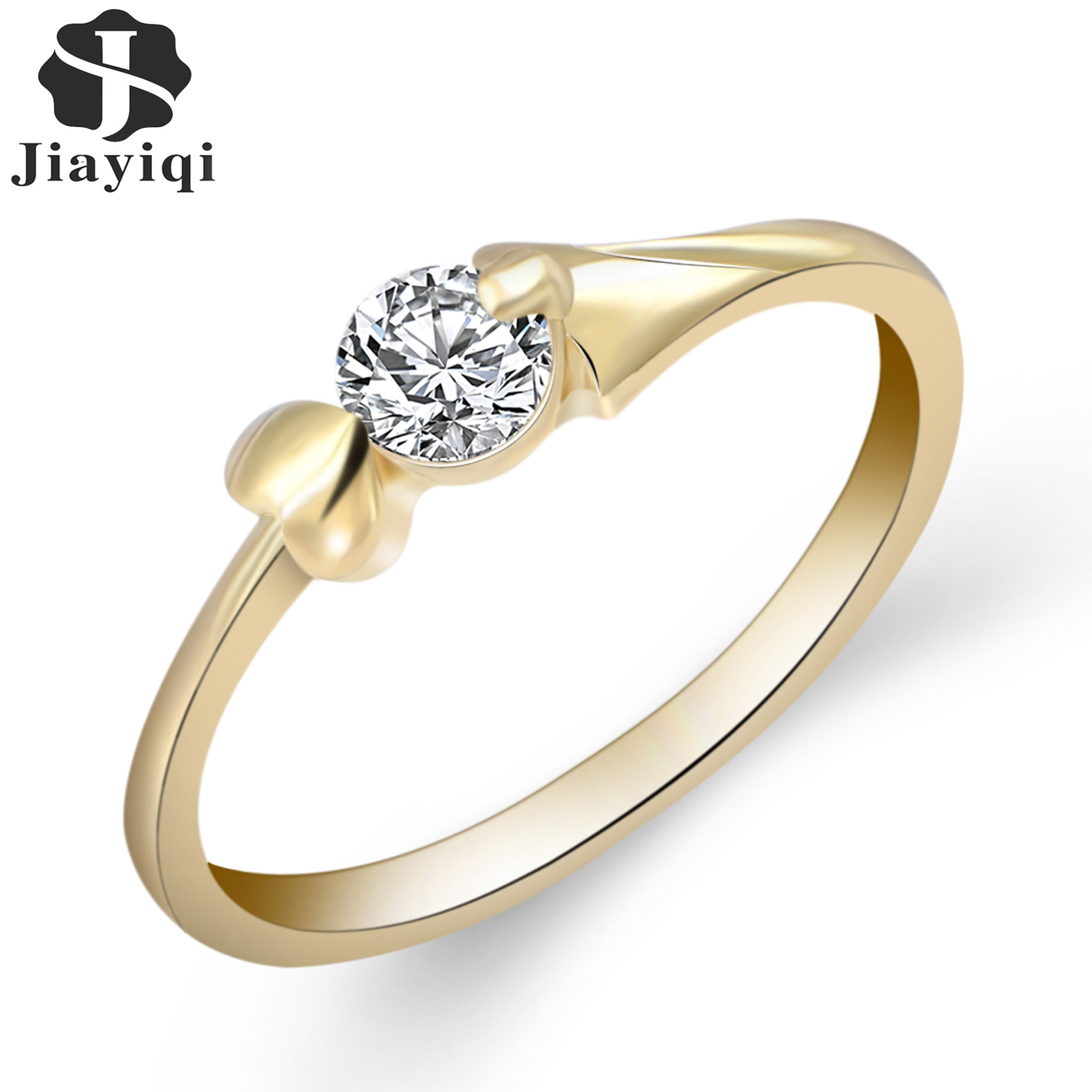2017 White Gold Color Finger Rings For Women Wedding Engagement Rings Cubic  Zirconia Jewelry Bijoux Accessories