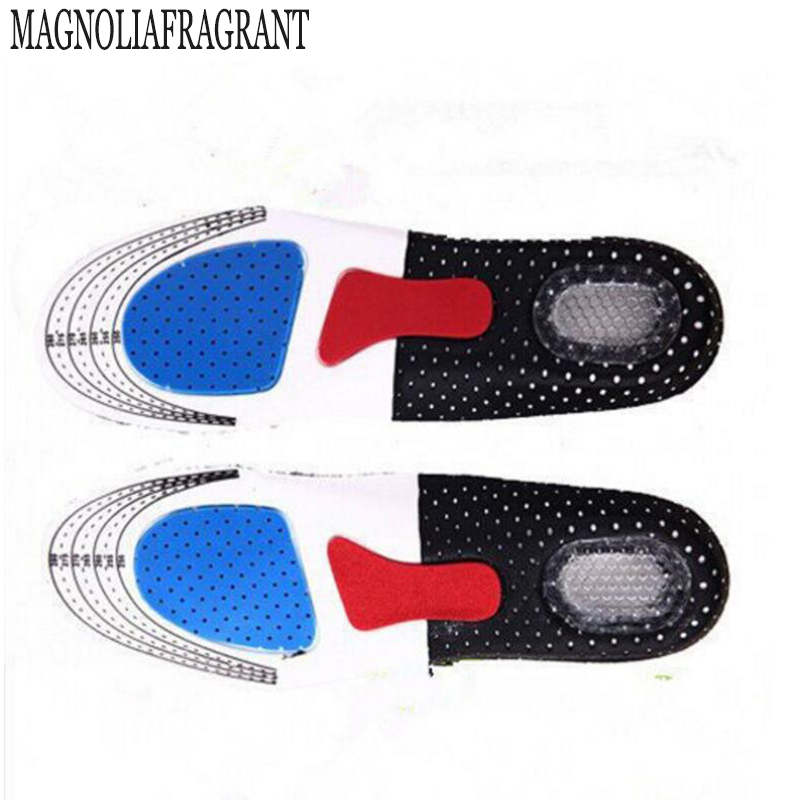2017 Free Size Unisex Orthotic Arch Support Shoe Pad Sport Running Gel Insoles Men Women Insert Cushion for w415 2016 1 pair large size orthotic arch support massaging silicone anti slip gel soft sport shoe insole pad for man women