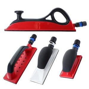 "Image 1 - Sanding Pad 1pc Sanding Block Hand Dust Extraction 5"" 16.5"" Grinding Holder Hook Loop Drywall Vacuum Polish Tools"