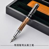 Duke clássico confúcio série bambu metal 1.2mm iridium nib caneta com caixa original para escolher canetas de tinta para o presente
