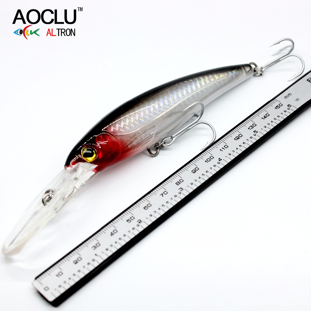 AOCLU VMC Hooks Fishing-Lure Tackle Crank Wobblers Minnow Hard-Bait Bass Saltwater 120mm