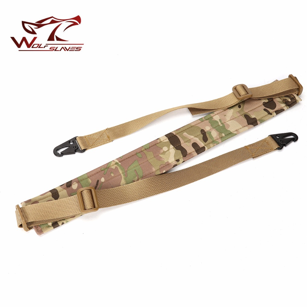 2 Two Point Shoulder Rifle Strap With QD Metal Buckle Adjustable Bungee Tactical Airsoft Mount Bungee System Kit Gun Sling