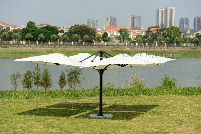 25 cubierta de jardn 25 metros gran sombrilla sombrilla de patio con 4 cubiertas para