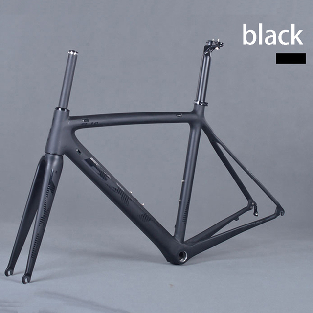 Cheap factory price frame carbon road bike matte Carbon Racing Bicycle Frameset ultralight 5 color 50/53/55 cm bicicleta carbon frame