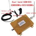 De alta ganancia de banda Dual 2G, dcs 1800 KIT amplificador de señal GSM 900 dcs 1800 repetidor de señal amplificador de Señal de Teléfono Móvil RF repetidor