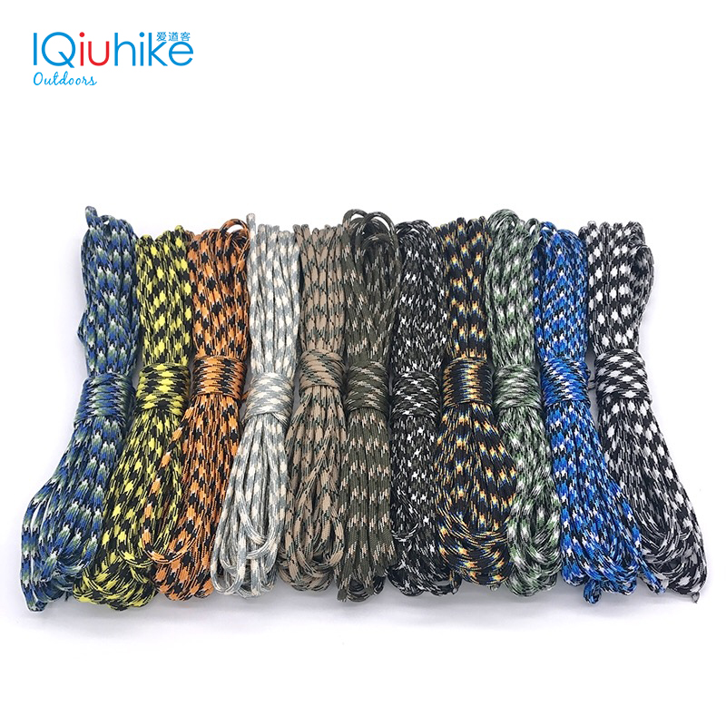 Camouflage 100FT (5-31M) Paracord 550 Parachute Cord Lanyard Mil Spec Type III 7 Strand Camping Survival Equipment Tents Rope