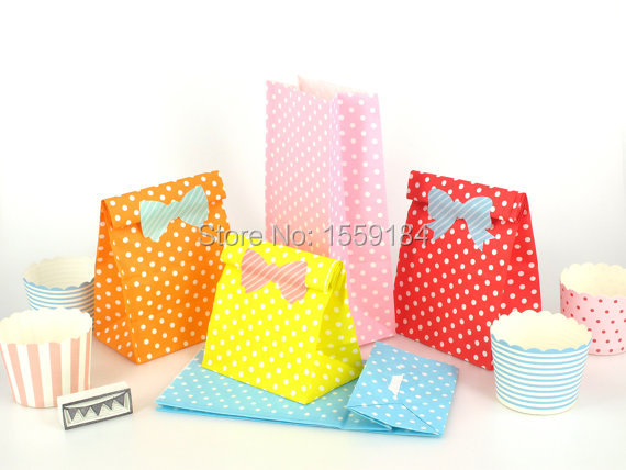 Free Ship 1000pcs Colorful Kraft Paper Gift Bags Party Wedding Favor Sandwich Bread Food Candy