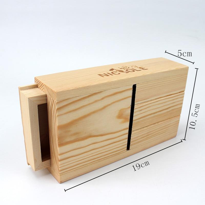 Hot Sale Nicole For DIY Handmade Loaf Soap Adjustable Wooden Soap Mold Loaf Cutter Rack