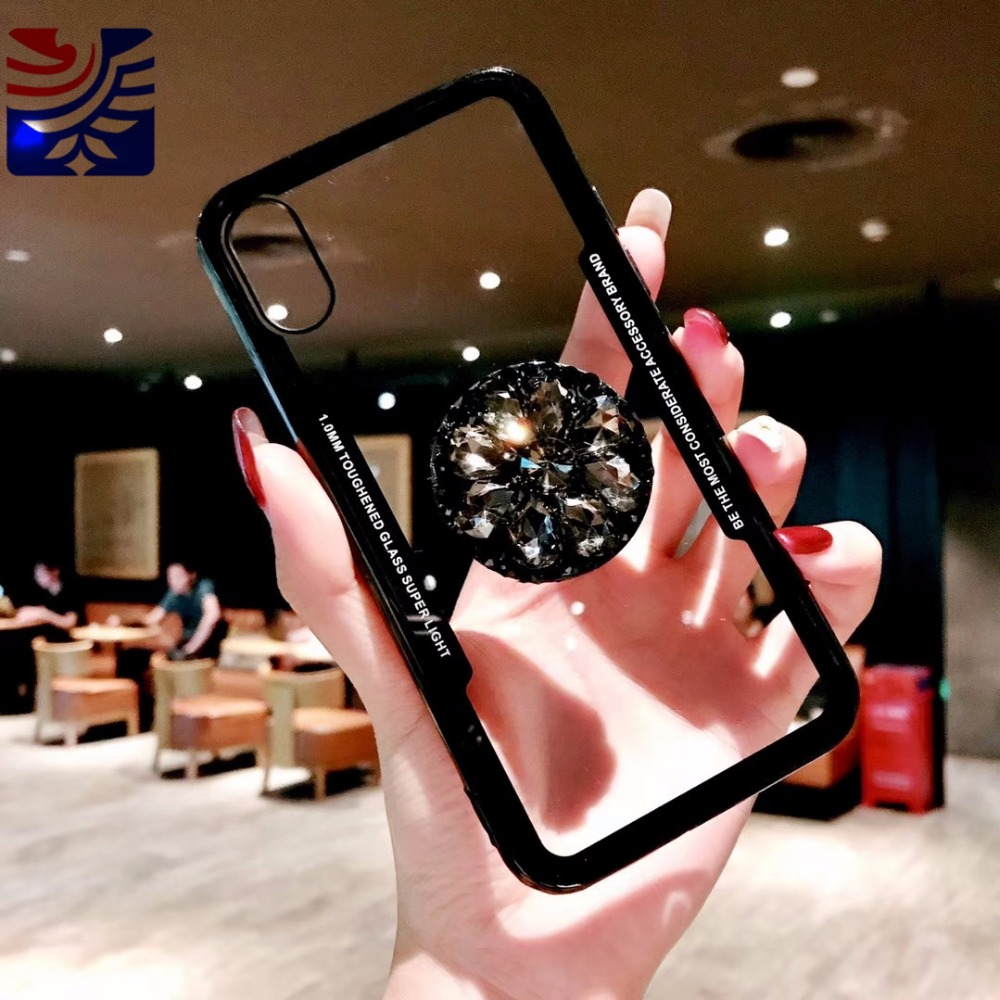 PEIPENG Luxury Transparent diamond phone case Phone Cases Thin and light  For iphone 6 6S 7 8 Plus X Xs Max Christmas gift03_