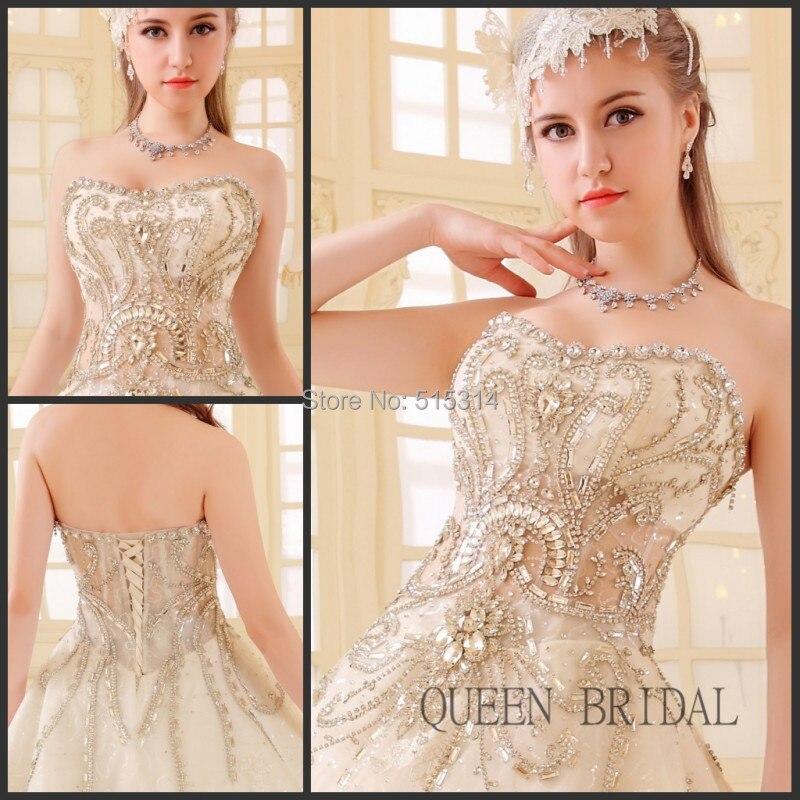 Nuovo merletto di arrivo cristalli di diamante sparkling glitter abiti da sposa di lusso sposa abiti da sposa abito da sposa abiti BS39