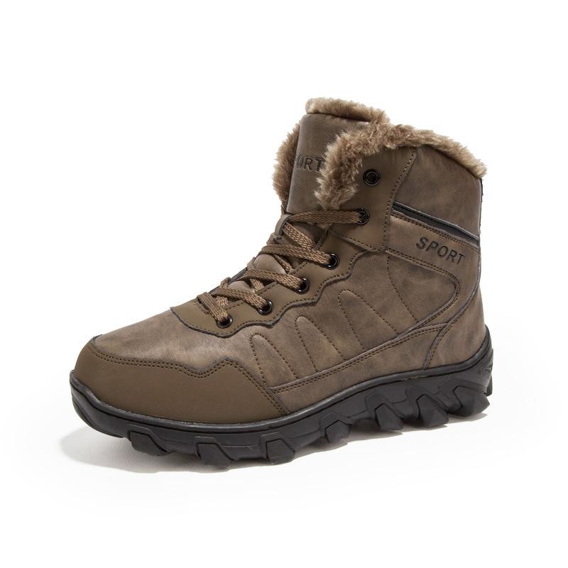 Winter men Boots Winter men Shoes Plus Size 39-48 New autumn and winter high-top cotton shoes men's shoes warm climbing shoes