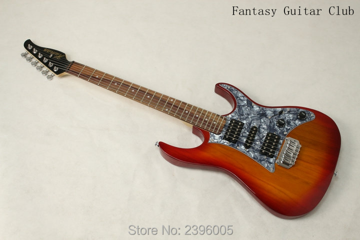 China famous electric Guitar company OEM Guitar.Human logo.Factory Direct st Guitar cherry sunburst color free shipping new arrival chinese famous brand oem company electric guitar factory direct beginner guitar high quality