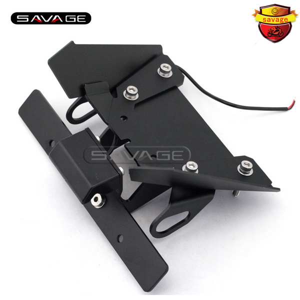 For KAWASAKI EX250R NINJA 250R 2008-2012 Motorcycle Tail Tidy Fender Eliminator Registration License Plate Holder LED Light for kawasaki z1000 z750r z750 2007 2012 motorcycle tail tidy fender eliminator registration license plate holder led light