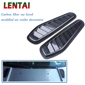 LENTAI 1Set Carbon Fiber Car Air Flow Vent Intake Hood Scoop Vent Bonnet Cover For BMW E60 E36 E46 E90 E39 E30 F30 F10 F20 X5 image