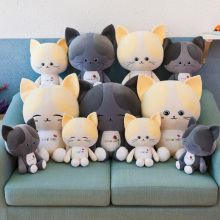 Cute Creative New Software Couple Kitten Plush Toy Cartoon Cat Doll Down Cotton Pillow Girl Birthday Gift Home Furnishings