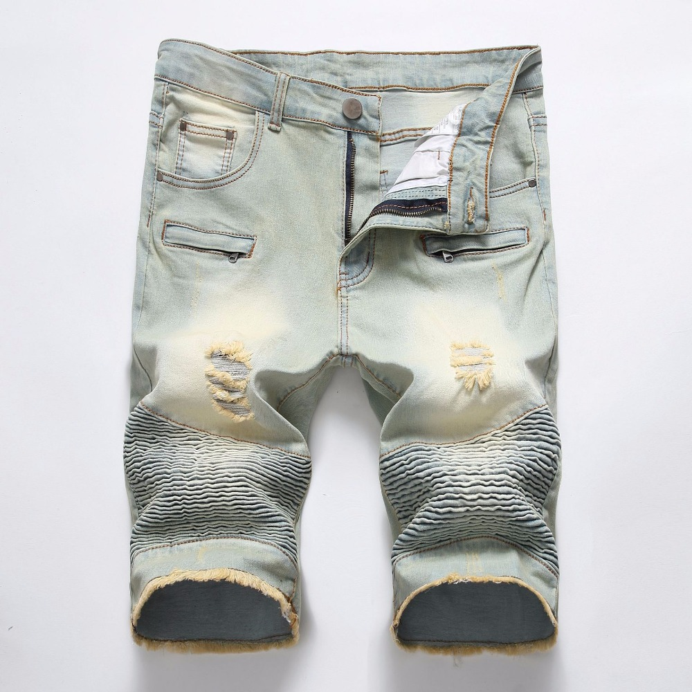Summer Denim Shorts Men Jeans Mens Jean Shorts Hole Hip Hop Bermuda Skate Board Harem Ma ...