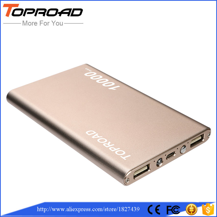 imágenes para Ultra Delgado de la Energía Bank 10000 mAh Externo Portátil Cargador de Batería para LG/Xiaomi/RedMi/LG/Huawei/iPhone 6 s/Android Teléfonos/Tablets