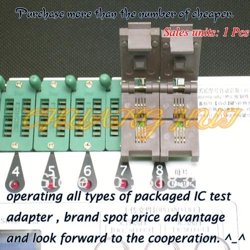 QFN8/WSON8 Programmer Adapter SPI FLASH Programmer Adapter For SPI-FLASH Programmer Adapter 25XXX Eeprom Flash Adapter