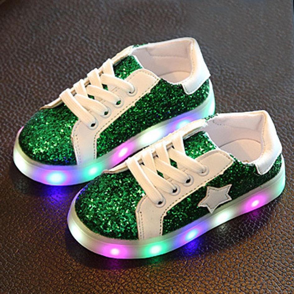 Bling Toddler Girls Glitter Casual Shoes Shinny Kids Girl