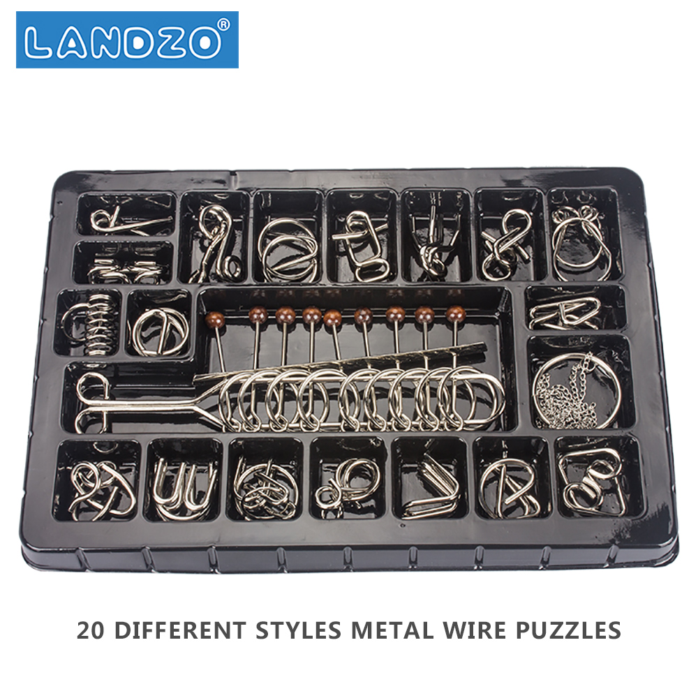 Metal Wire Puzzle Set of 120 with Pouch,Brain Teaser IQ Test Disentanglemen  Iron Link Unlock Puzzles Game Chinese Ring Puzzle-in Puzzles from Toys &  Hobbies ...