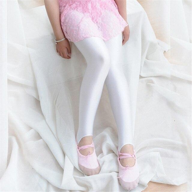 3965e3e2b7352 Baby Girls Dance Legging Stocking Summer Pantyhose Girls Pink Color Stirrup  Leggings Little Glossy Pants for