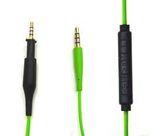 Nsen reemplazo de cables de cables de audio para akg k450 k451 k480 q460 auriculares con control de volumen del mic para iphone android