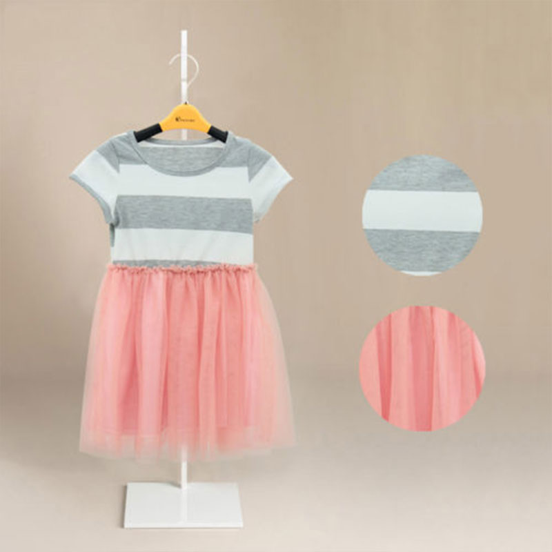 Buy 2017 Cute Baby Girls Dresses Casual Dress Kids Baby Striped Princess Tulle Tutu Party Dress Children Costume 2-11Y for only 6.82 USD