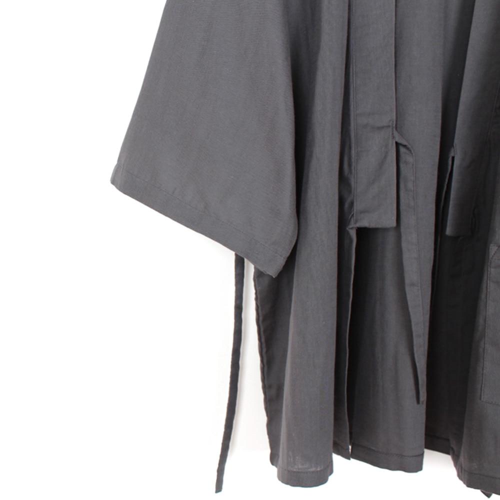 Men Cotton Winter Long Kimono Pajamas Pants Set Home Wear Nightwear Japanese New