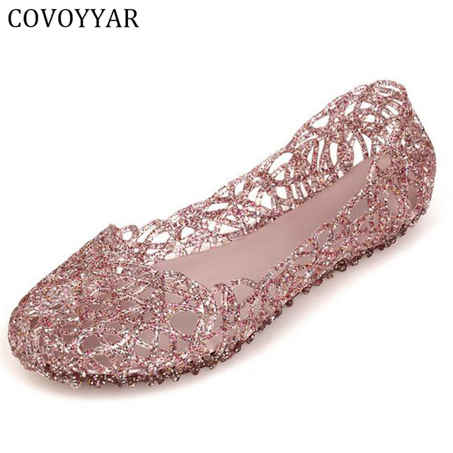 2019 Plastic Cut Out Casual Lady Sandals Women Summer Breathable Flats  Comfort Jelly Shoes Women Slip On Plus Size 40 WFS175 580ee47796ea