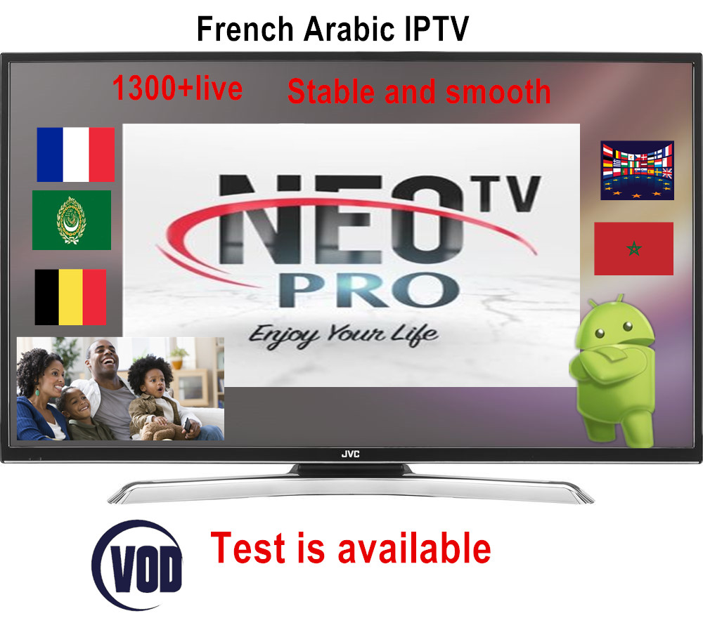 French IPTV Neotv Pro 1300+ Channels Europe Arabic Belgium IPTV Subscription Code LiveTV IP TV  M3U Android Enigma2  Smart TV