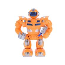 Lovely Electric Robot Educational Toys Children Kids Orange Music Light Model Funny Electro