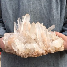 7.21LB Natural Clear Quartz Cluster Mineral Crystal point Healing