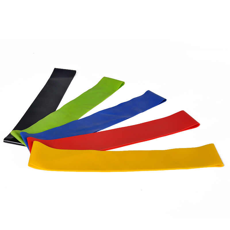 Zespoły oporu elastyczna opaska do ćwiczeń opaski gumowe dla Fitness Pull liny pętli siłownia joga trening ekspander CrossFit sprzęt