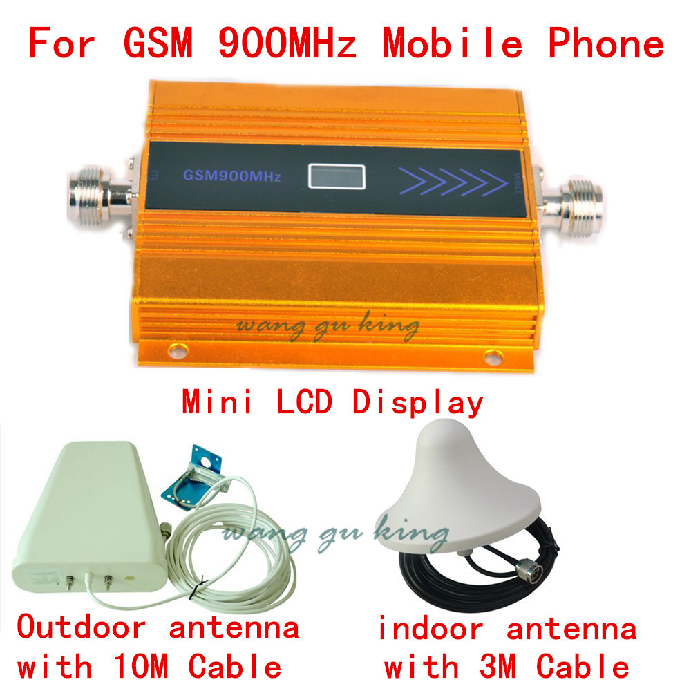 Full Set 900MHz GSM Repeater Cell Phone Signal Booster GSM signal amplifier , Mobile Phone Signal Repeater amplifie LCD DisplayFull Set 900MHz GSM Repeater Cell Phone Signal Booster GSM signal amplifier , Mobile Phone Signal Repeater amplifie LCD Display