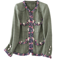 New Brand Ladies Temperament Small Fragrant Female Short Braid Jacket Suihua Station