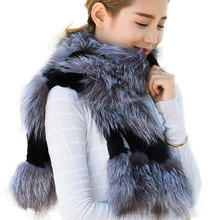 GTC157 2014 new style winter fashion women lovely warm knitted real rex rabbit fur scarf wraps gifts shawls for girls