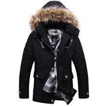 Мода новые зима молодежи хлопка-ватник карман украшение случайный slim fit с капюшоном Тяжелый волос воротник куртка одежда пальто