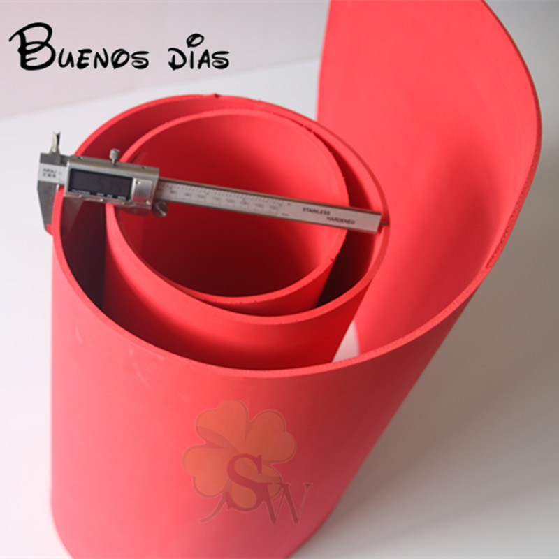 Free Shippment  No Hole Red Color 5mm Thickness  Eva Foam Sheet,cosplay Children School Handmade Material Size 50cm*200cm