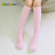 16 Colors Over Knee Socks Kids Stockings for Girls Stretch Nylon Cute Solid Thigh High Long Sweet Velvet