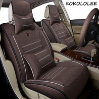 kokololee Universal flax Car Seat covers for DS all models DS DS3 DS4 DS6 DS5 DS4S car accessories auto styling auto cushion