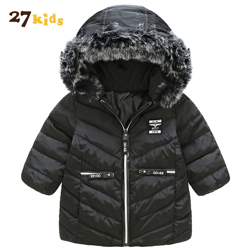27Kids Children Warm Coat Kids Clothes Down Windproof Outerwear Thicken Boys Girls Jackets Autumn and Winter Hooded Zipper Coats kids winter jackets girls coats with hood waterproof girls coat autumn outerwear windbreaker pink children clothes 11 12years