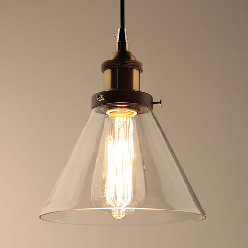 lowest price Vintage Pendant Lights Dining Glass Hanging lamp Russia Loft Luminaire Modern Bedroom Pendant Lamp with Clear Gray Amber Colour