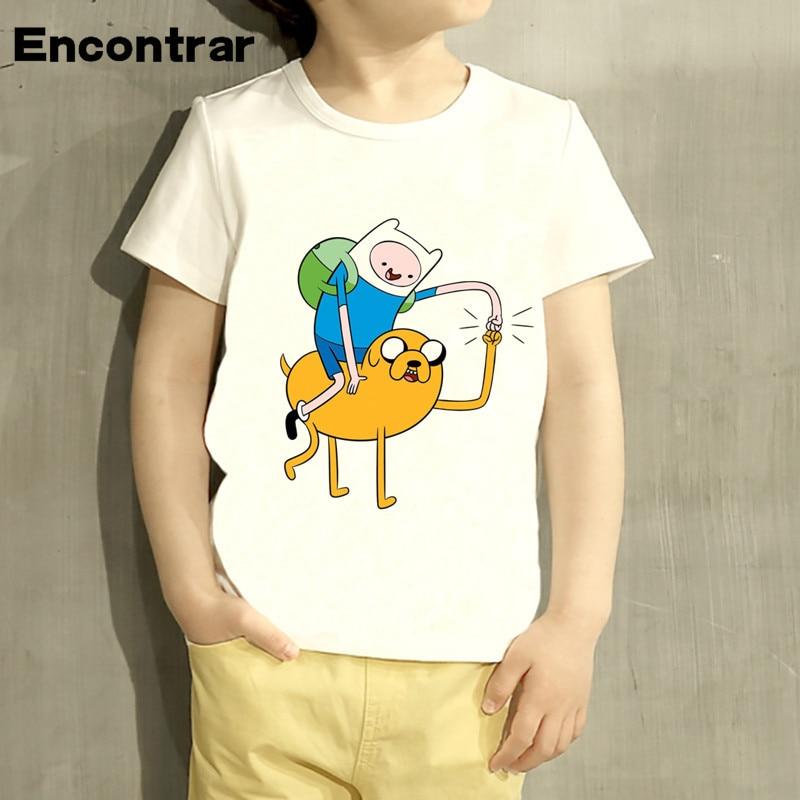 Kids Finn and Jake Adventure Time Design Baby Boys/Girl TShirt Kids Funny Short Sleeve Tops Children Cute T-Shirt,HKP4061