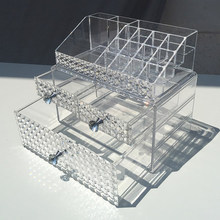 Large combination drawer type cosmetic storage box transparent desktop skin care dressing table