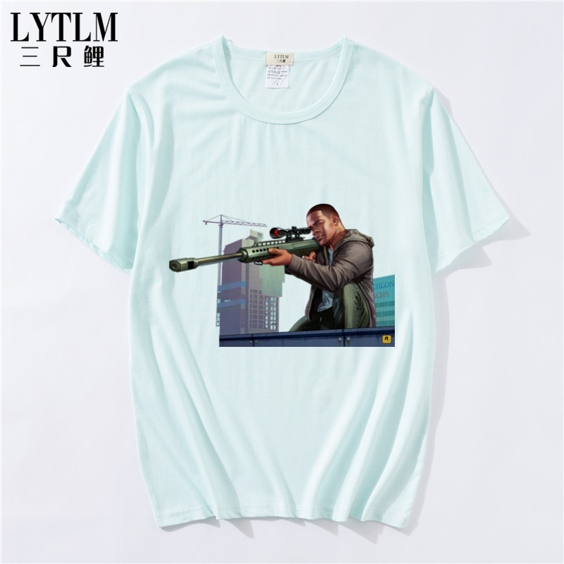 LYTLM GTA5 Tshirt Brand New Kids Baby Girls Summer Fashion Cotton Short Sleeve T-shirt Tops Clothes White Tees for Baby Boy,gta4